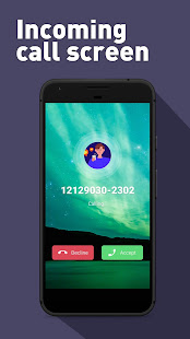 Ripple style theme, full screen video caller ID