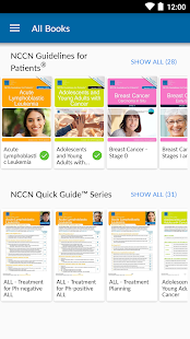 NCCN Patient Guides for Cancer- screenshot thumbnail