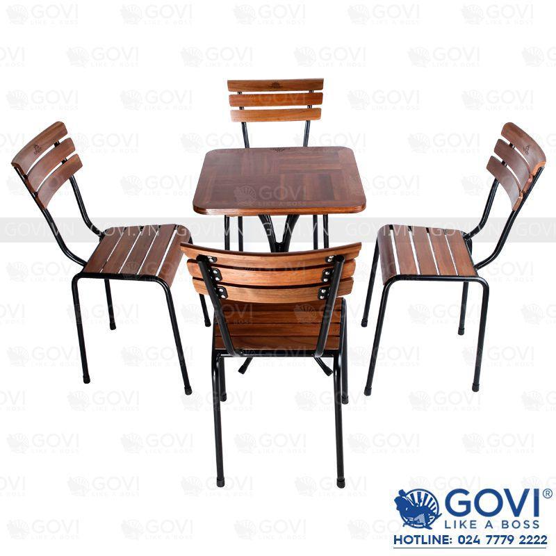 ết quả hình ảnh cho bàn ghế gỗ cafe Govi