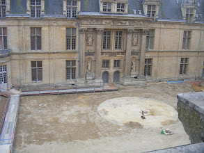 Photo: The central courtyard is undergoing extensive renovations, and so some of the Château's rooms are not accessible at present.