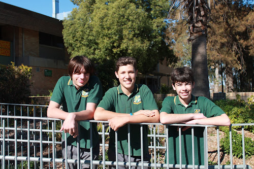 New Bush Bots team members Dean Bennett-Clancy, Hayden Shearin and Isaac Weaver.
