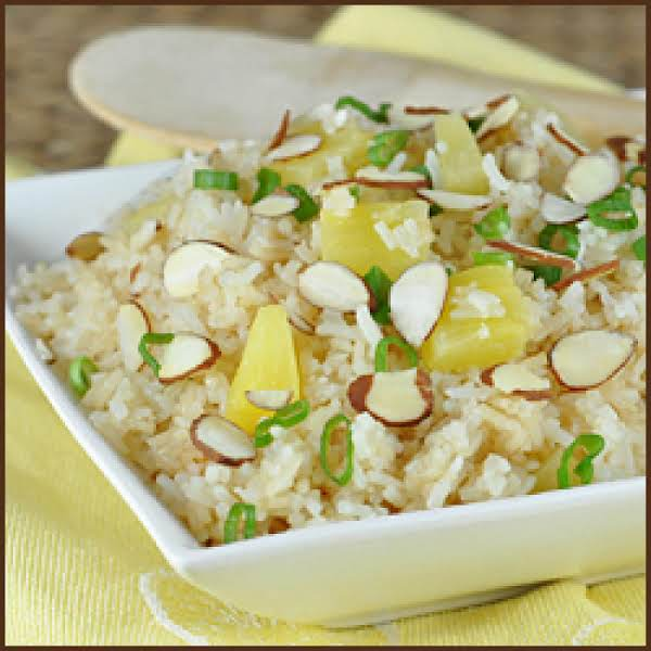 Coconut Rice And Pineapple
