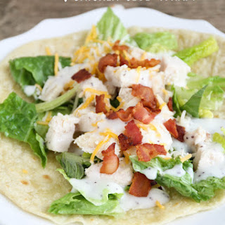 Easy Chicken Club Wraps