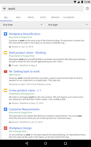 Google Cloud Search for PC