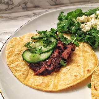 Asian Duck Confit Tacos with Simple Arugula Salad Recipe