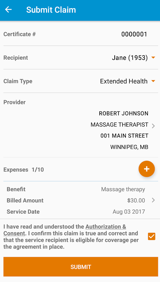 mybluecross® mobile- screenshot