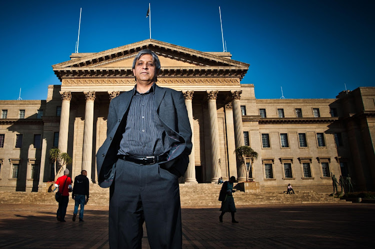 Vice-chancellor Adam Habib stands in front of the Great Hall at the University of the Witwatersrand. File photo