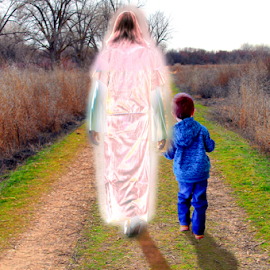 WALKING WITH JESUS  by Gerry Slabaugh - Digital Art People ( walking with jesus, walking, christian walk, cross )