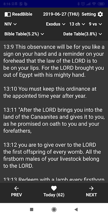 Bible Reading Apps with Reading Table – (Android Sovellukset