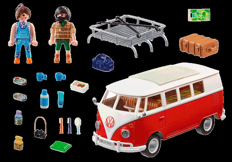 Contenido Real de Playmobil® 70176 Volkswagen T1 Camping Bus
