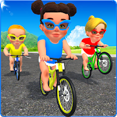 Baby Bicycle Rider Race 3D