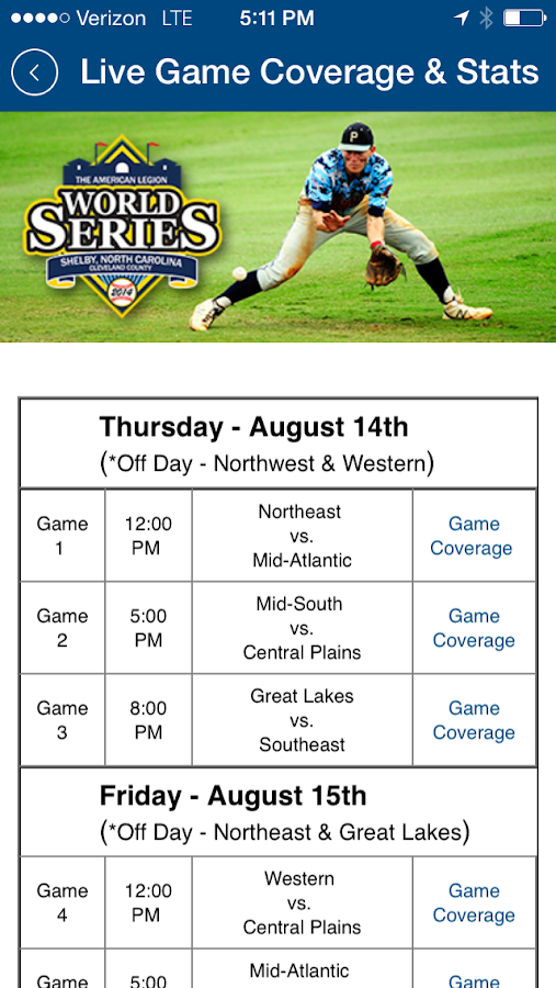 American Legion World Series- screenshot
