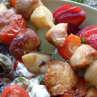 Gluten Free and Dairy Free Honey Chicken Kebabs
