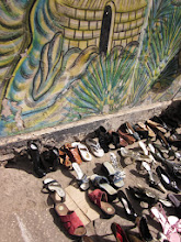Photo: Shoes for sale on the street.