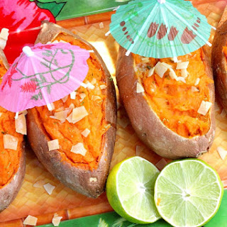 Twice Baked Sweet Potato Boats with a Tropical Touch Recipe