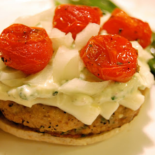 Basil & Roasted Tomato Turkey Burgers