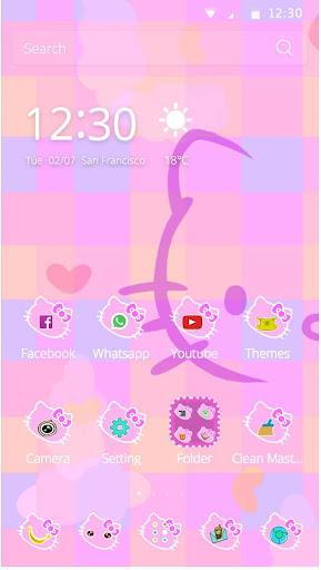 hello kitty的粉紅手機主題