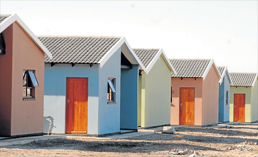 RDP Houses. File picture