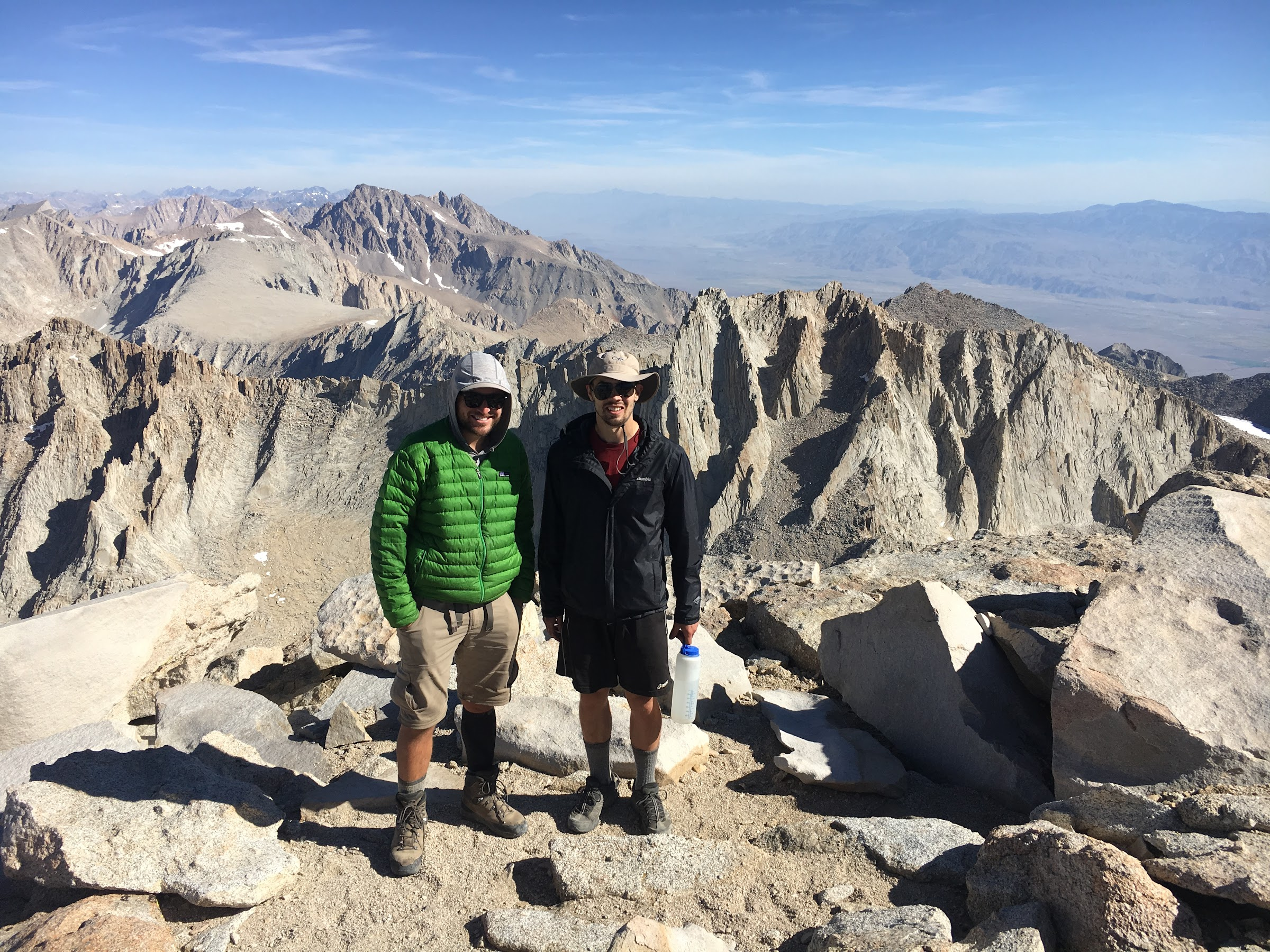 The end of the trail atop the Mount Whitney