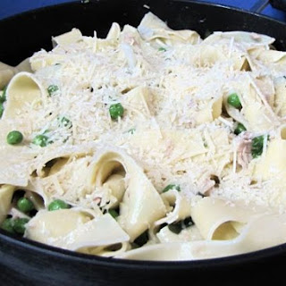 Pappardelle Pasta In A Butter Sauce.