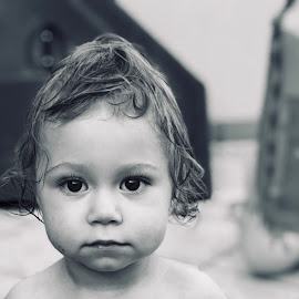 Pure Innocence  by Aliza Visagie - Babies & Children Toddlers ( #alizavisagie #toddlerphotography #blackandwhite )