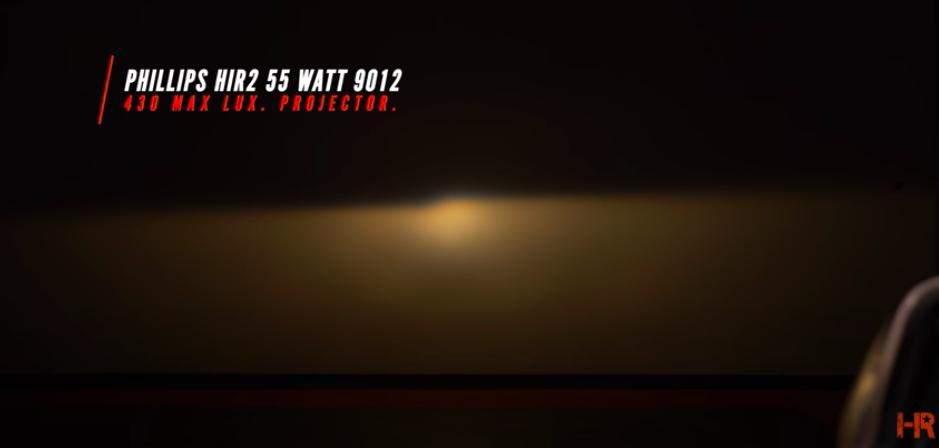 Is 100W Halogen Brighter than LED? - Phillips HIR2 55 Watt 9012