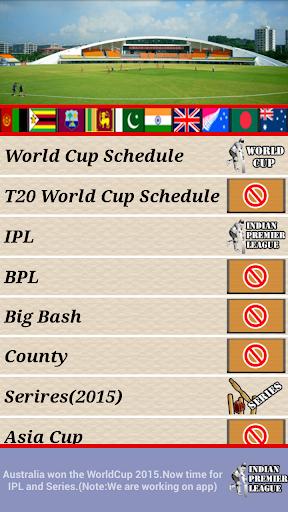 Complete Cricket Schedule