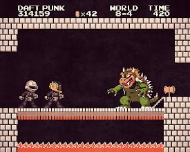 Photo: Daft Punk vs. Bowser (2013)  https://en.wikipedia.org/wiki/Super_Mario_Bros https://en.wikipedia.org/wiki/Daft_Punk https://en.wikipedia.org/wiki/Bowser_(character)