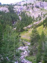 Photo: De Dormillouse à Prapic approche des cascades sur le torrent des Oules