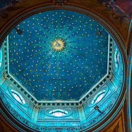 Rome, San Gioacchino in Prati by Photoxor AU - Buildings & Architecture Places of Worship ( blau, kirche, rom, church, blue, rome, kuppel, san gioacchino in prati )