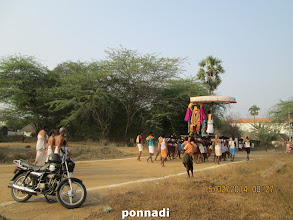 Photo: arriving at the banks of the lake where thIrthavAri is to be held