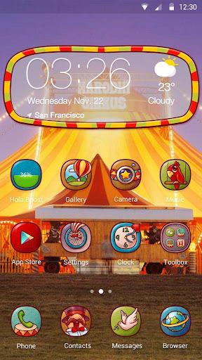 Circus Fun Hola Launcher テーマ