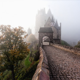 Misty Burg Eltz by Roy Poots - Buildings & Architecture Public & Historical ( eltz, burg etlz, germany, burg, misty, mist )