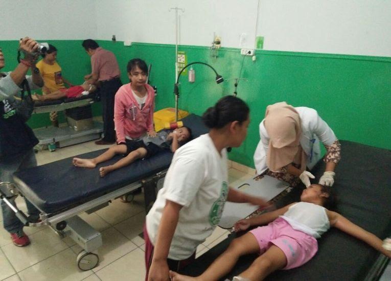 Gedung TK di Kedungputri ngawi ambruk saat jam belajar