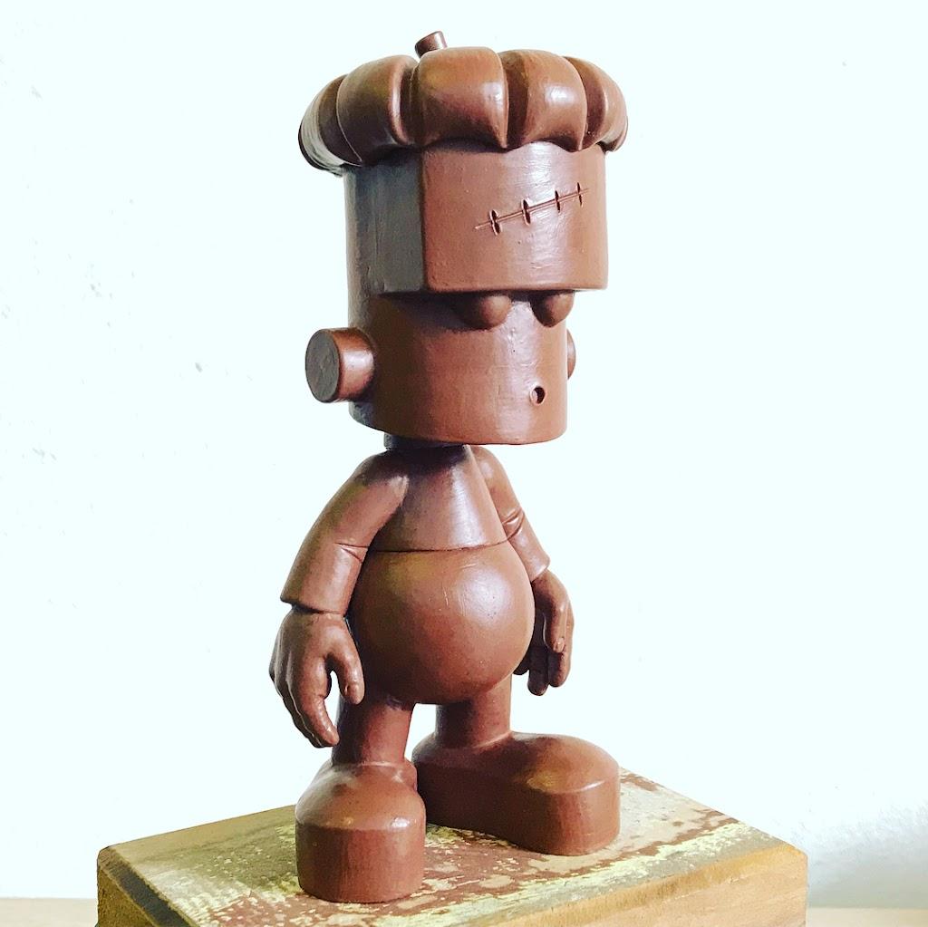 Claytrix - The Pumpkinstein - Personagem criado pela Claytrix para Workshop de Escultura para Iniciantes