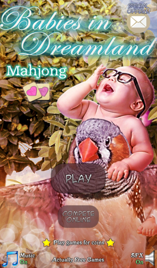Hidden Mahjong: Babies- screenshot