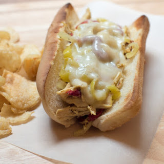 Crock-Pot Chicken Philly Cheesesteak Sandwiches (and a Mezzetta Giveaway!)