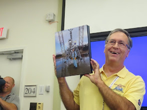 Photo: My favorite picture of the day!  The camera-man grinning as he catches our excitement for stories about Neil Armstrong's lunar landing training at Langley!