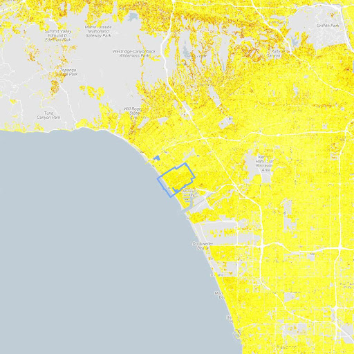 Potenzielle Umweltauswirkungen von Solaranlagen für die gesamte Stadt Los Angeles im US-Bundesstaat Kalifornien:<br>4Millionen Tonnen weniger Kohlendioxidemissionen und 851.000weniger Autos auf der Straße für ein Jahr