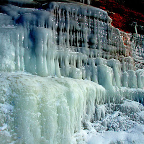 Frozen Cascades by Shixing Wen - Landscapes Caves & Formations ( ice caves, frozen cascades, lake superior, nature photography, apostle islands national lakeshore )