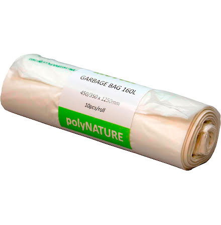 Sopsäck Polynature 160l vit 10