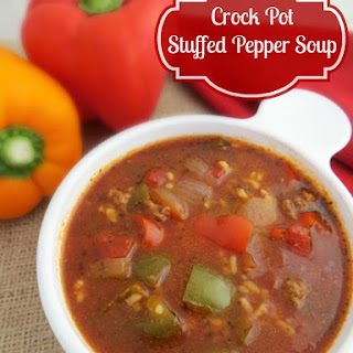 Crock Pot Stuffed Pepper Soup makes a Delicious Meal!