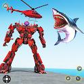 Police Shark Robot Car Transform Simulator icon