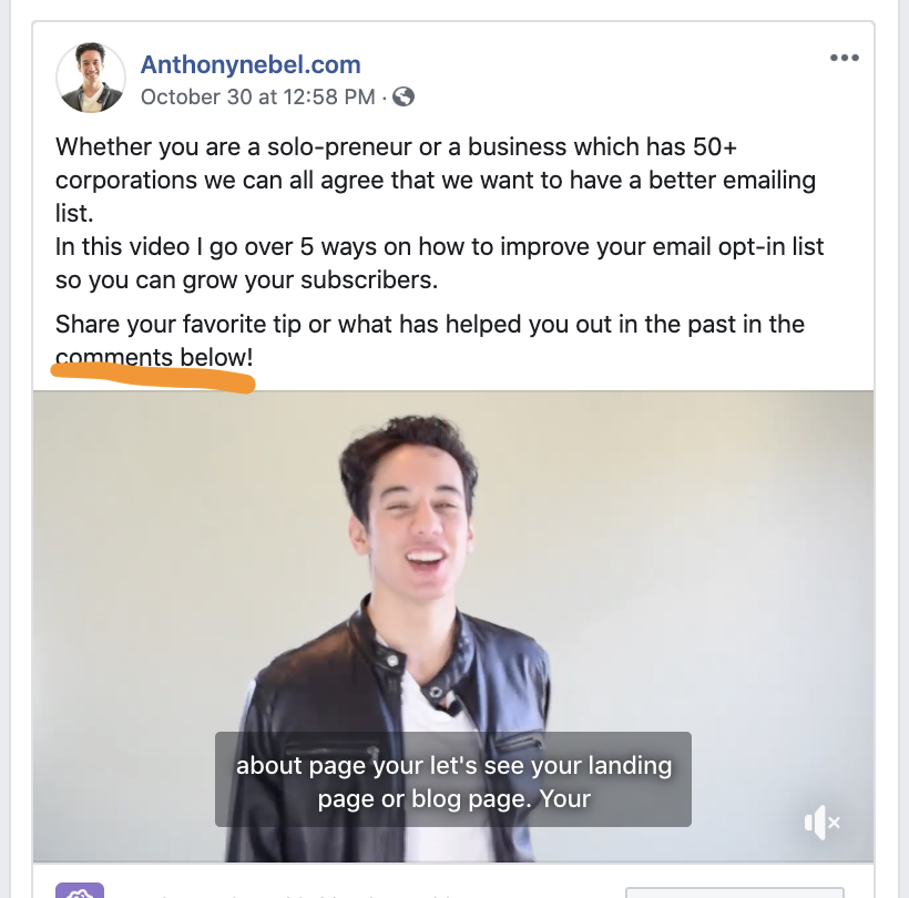 A video ad on Anthonynebel.com