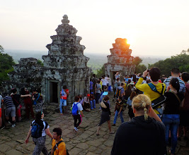 Photo: Too much haze for a sunset pciture of Angkor Wat