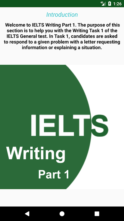 ielts part 1 writing academic research