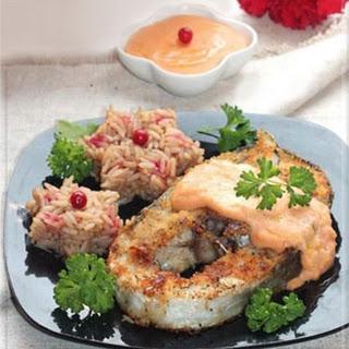 Cod Steaks with Aurora Sauce
