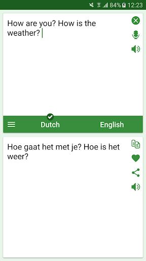 Dutch English Translator Apps para Android screenshot