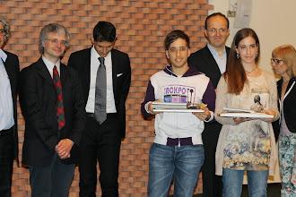 """Photo: Piccolo Agone Placidiano 2015: Vincitori per il Liceo """"Bocchi - Galilei"""" di Adria: Giulia Fattorini (3° anno) e Giacomo Franzoso (4° anno)"""