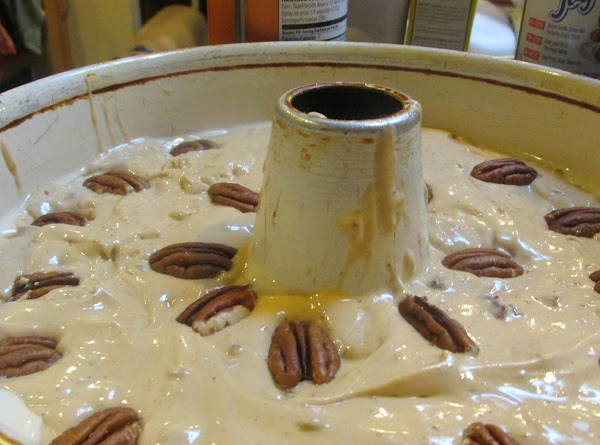 I added a few extra pecan halves on top before baking but the cake...